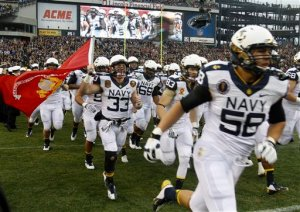 John Howell (33) returned in time to take the field for Army-Navy.